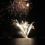 The Glow of Grand Lake Fireworks
