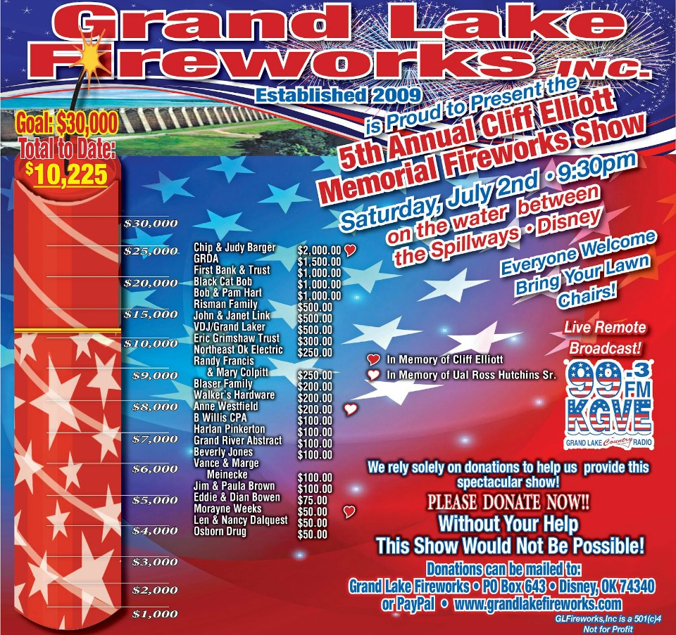 2016 Grand Lake Fireworks