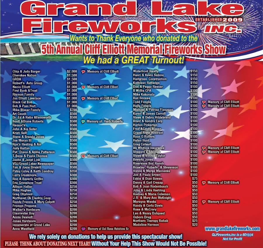 2016 Grand Lake Fireworks